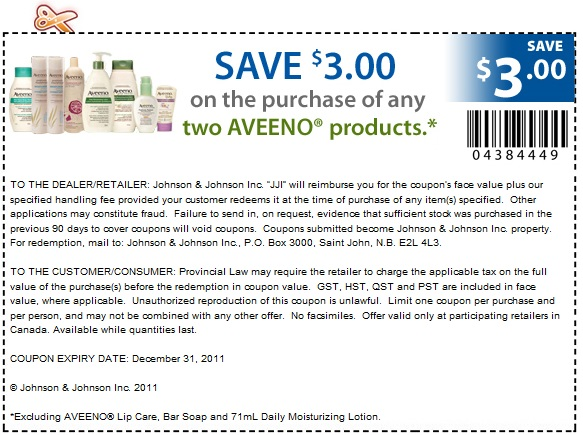 graphic relating to Aveeno Coupon Printable called Aveeno $3 printable coupon MrsSmithExtremeShopper